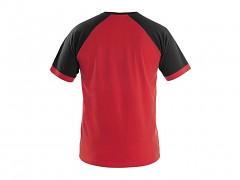 Pánské triko CXS Oliver - červená/černá
