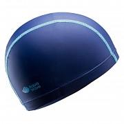 Dětská plavecká čepice AQUAWAVE Dryspand JR Cap - blueprint/blue curacao