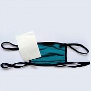 Bambusová rouška PROGRESS s kapsou a 5 filtry - černá