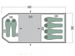 Rodinný stan PINGUIN Omega 6 - zelená pro 6 osob