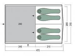 Rodinný stan PINGUIN Interval 4 - zelená pro 4-5 osob