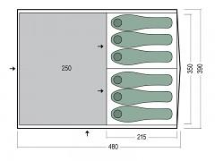 Rodinný stan PINGUIN Interval 6 - zelená pro 6 osob