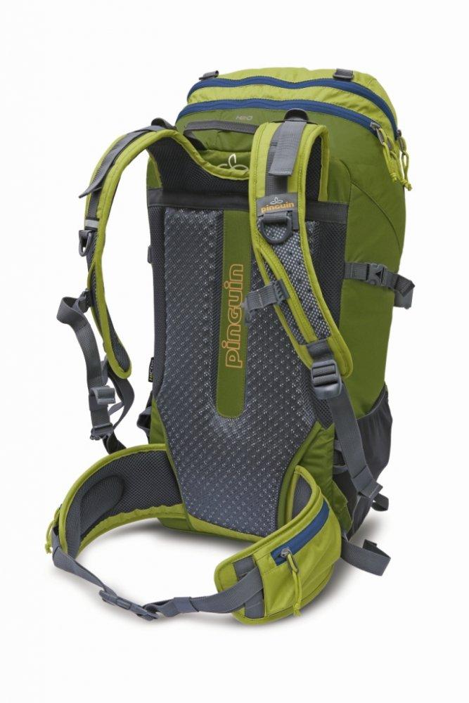 ... Turistický batoh PINGUIN Trail 42 l - ukázka zádového systému v zeleném  provedení e9be1ddae5