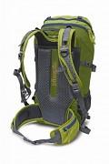 Turistický batoh PINGUIN Trail 42 l - ukázka zádového systému v zeleném provedení