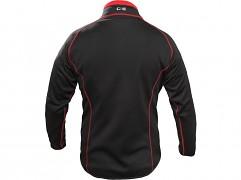 Pánská strečová mikina CXS Toronto - černá/červená