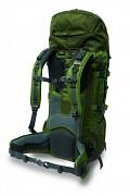 Turistický expediční batoh PINGUIN Explorer 60 l - ukázka zad u zeleného provedení