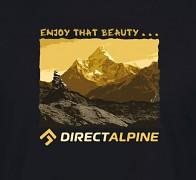 Pánské triko DIRECT ALPINE Crack 5.0 - black - enjoy that beauty