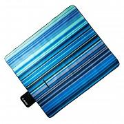 Pikniková deka HI-TEC Nico -  navy/blue stripes - 150 x 180 cm