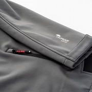 Pánská softshellová bunda HI-TEC Noxon - iron gate/black