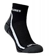 Ponožky FLORES Active - černá/bílá - set 2 párů
