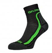 Ponožky FLORES Active - černá/neon zelená