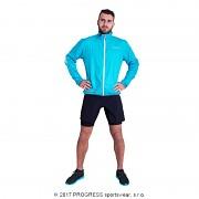 Ultralehká bunda PROGRESS Aero Running - tyrkysová