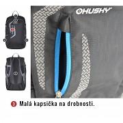 Městský a školní batoh HUSKY Marel 27 l - modrá