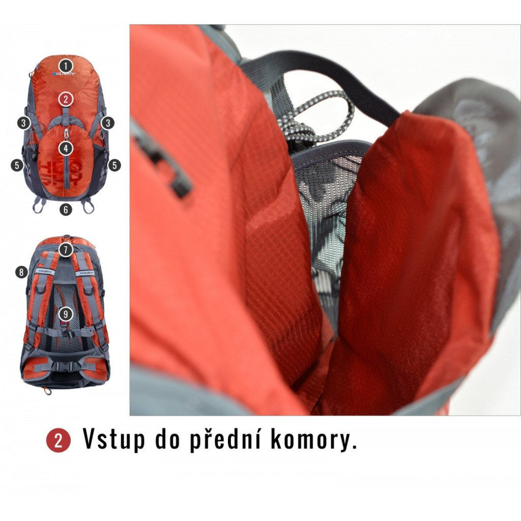 Turistický batoh HUSKY Salmon 35 l - oranžová   Outdoor-a-sport.cz ... ec1fd2ef93