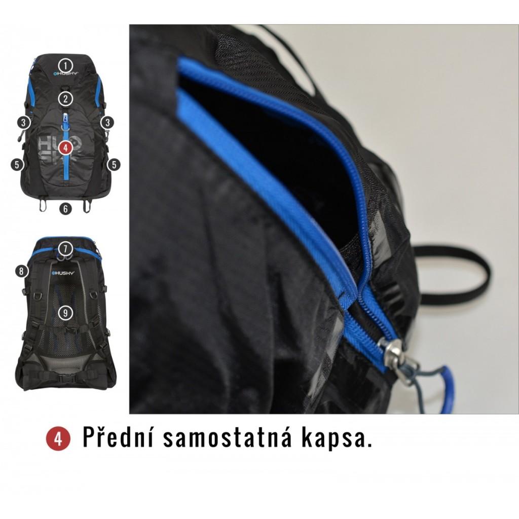 6cd59a1817 Turistický batoh HUSKY Salmon 35 l - zádový systém - ilustrační foto  modrého provedení. 13 obrázků v galerii