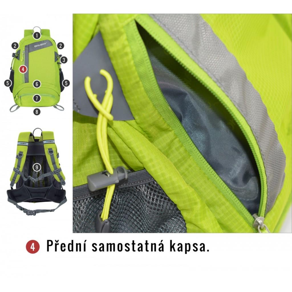 586bad0c87 Turistický batoh HUSKY Stingy New 28 l zelená   Outdoor-a-sport.cz ...