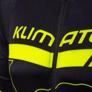 Pánský cyklodres KLIMATEX Anis - černá/žlutá neon