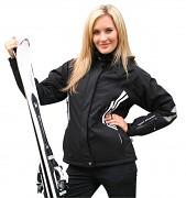 Dámská softshellová lyžařská bunda RVC Stormina - černá jet