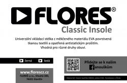 Stélky FLORES Classic Insole - šedá