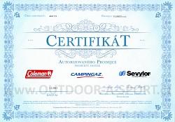 Certifikát autorizovaného prodejce