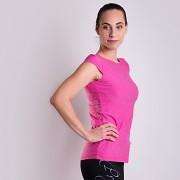 Dámské sportovní triko PROGRESS Cordoba - růžový melír