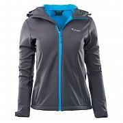 Dámská softshellová bunda HI-TEC Lady Caria II - šedá/modrá - vel. S