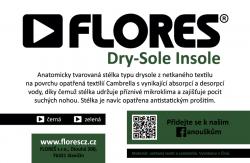 Stélky FLORES Dry-Sole Insole - černá