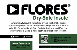 Stélky FLORES Dry-Sole Insole - zelená