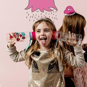 EKO plastová láhev EQUA Monsters Pink/Turquoise 600 ml