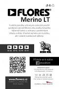 Ponožky FLORES Merino LT - černá/šedá