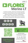 Ponožky FLORES Merino LT - sv. šedý melír/zelená neon