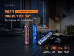Nabíjecí svítilna FENIX E02R - černá