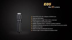 Baterka FENIX E05 XP-E2 - černá