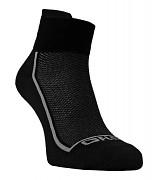 Ponožky FLORES Sneaker - černá/šedá
