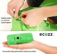 Eko nákupní taška ECOZZ Blue Squares EcoShopper
