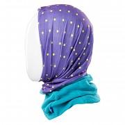 Tubus - dětský multifunkční šátek BEJO Alper JR - purple dots print