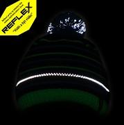 Chlapecká čepice FLORES Kenai Kids Reflex - zelená - čepice obsahuje reflexní prvky