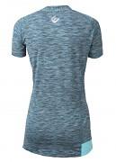 Dámské triko se zipem PROGRESS Kuga - tyrkysový melír/sv.modrá