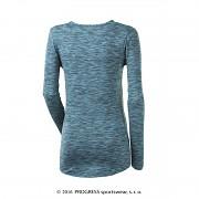 Dámské funkční triko PROGRESS Loca - tyrkysový melír