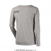 Pánské funkční triko PROGRESS Longbar - šedý melír