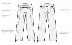 Lezecké kalhoty OCÚN Mánia Pants Men - night sky blue - prodloužené