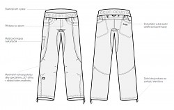 Lezecké kalhoty OCÚN Mánia Pants Men - dark brown