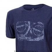 Pánské triko PROGRESS Maverick - tm. modrý melír