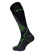 Lyžařské merino ponožky FLORES Merino Ski - černá/sv. zelená