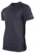 Pánské triko HI-TEC Puro - dark grey melange