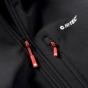Pánská softshellová bunda HI-TEC Caen - black/spicy orange