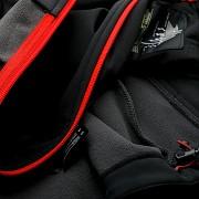 Pánská softshellová bunda ELBRUS Iver - black/spicy orange/asphalt