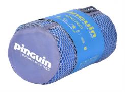 Ručník PINGUIN Micro Towel - ukázka sbalení u modré varianty