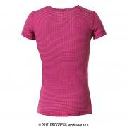 Dětské funkční triko PROGRESS MS NKRD - tm. růžová