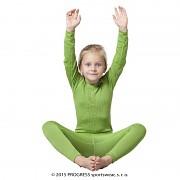 Dětské funkční spodky PROGRESS MS SDND - zelená